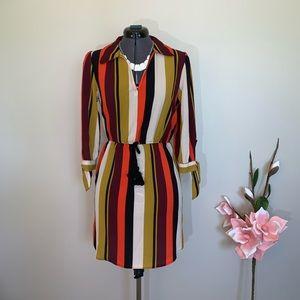 NWT Striped tie sleeve dress